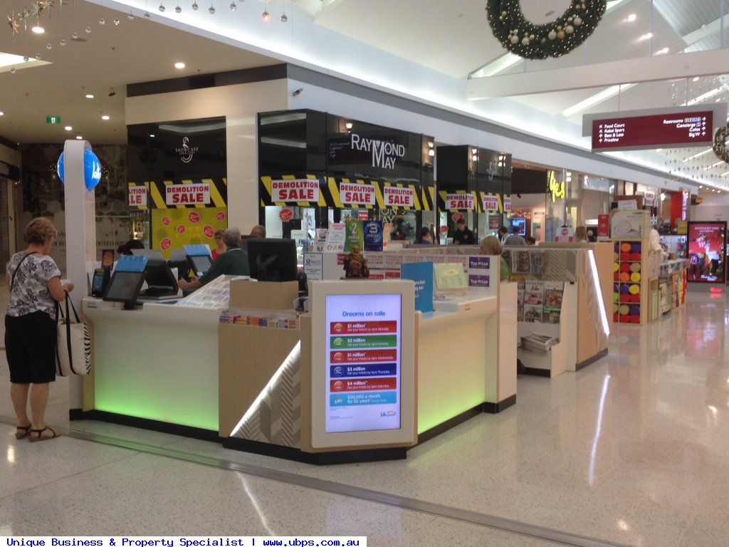 LOTTO KIOSK IN MAJOR SHOPPING CENTRE